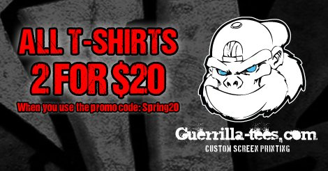 Two for $20 Funny T-Shirt Sale