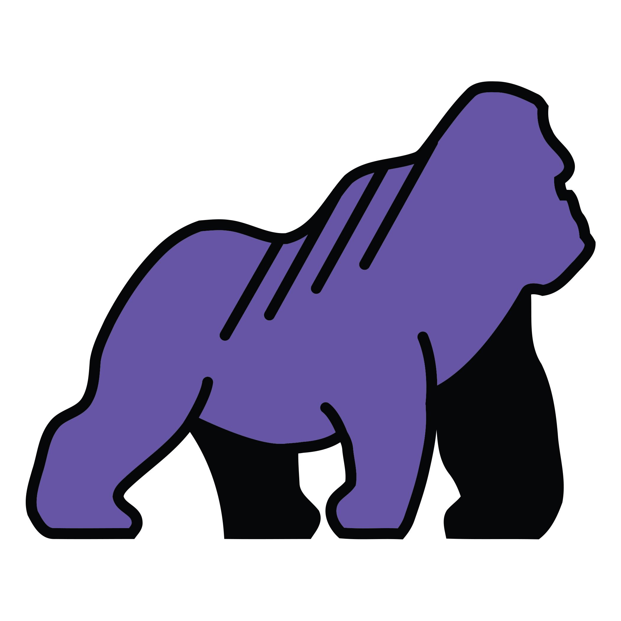 Purple Gorilla Sticker