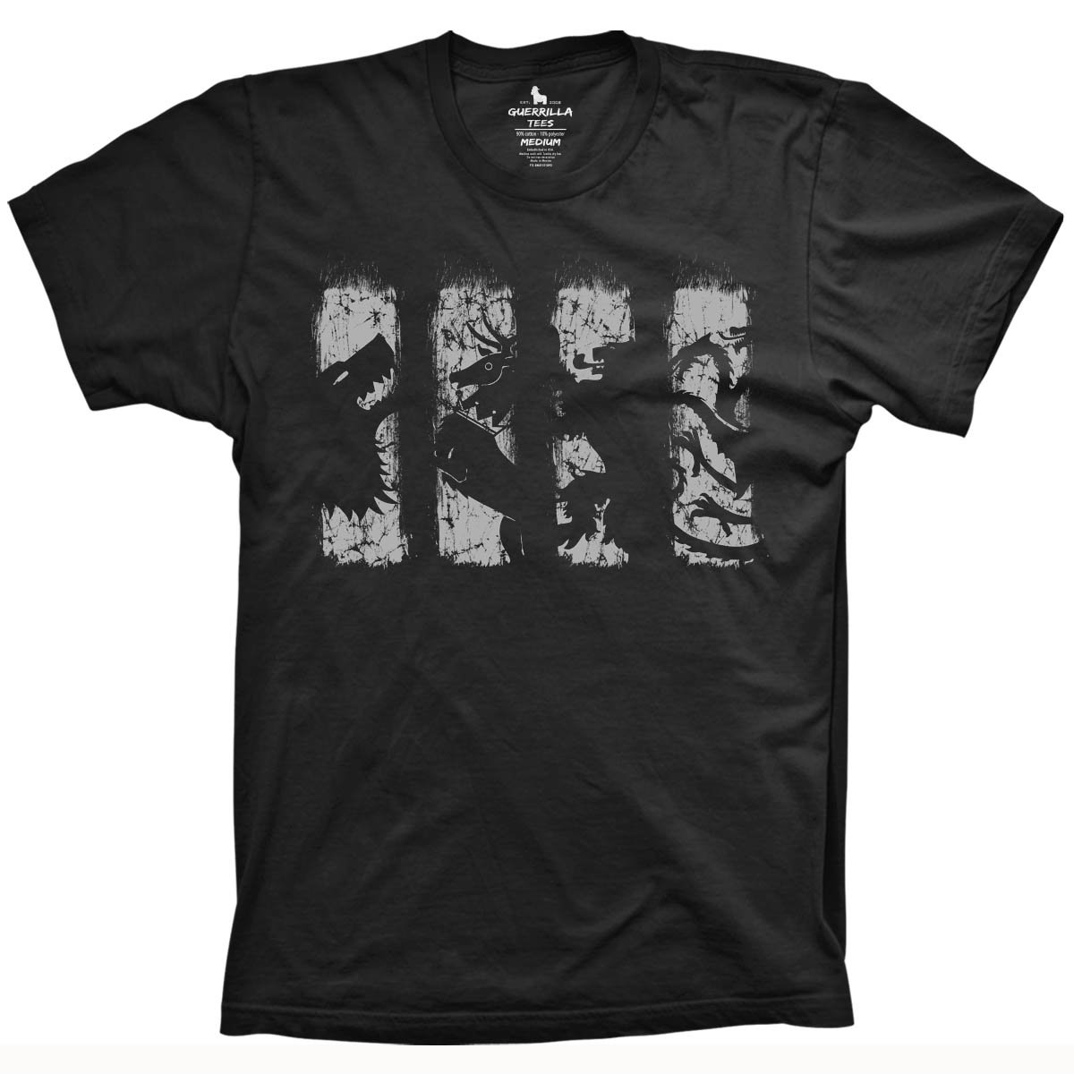 Game Of Thrones Fan T Shirts Houses Shirt Guerrilla Tees
