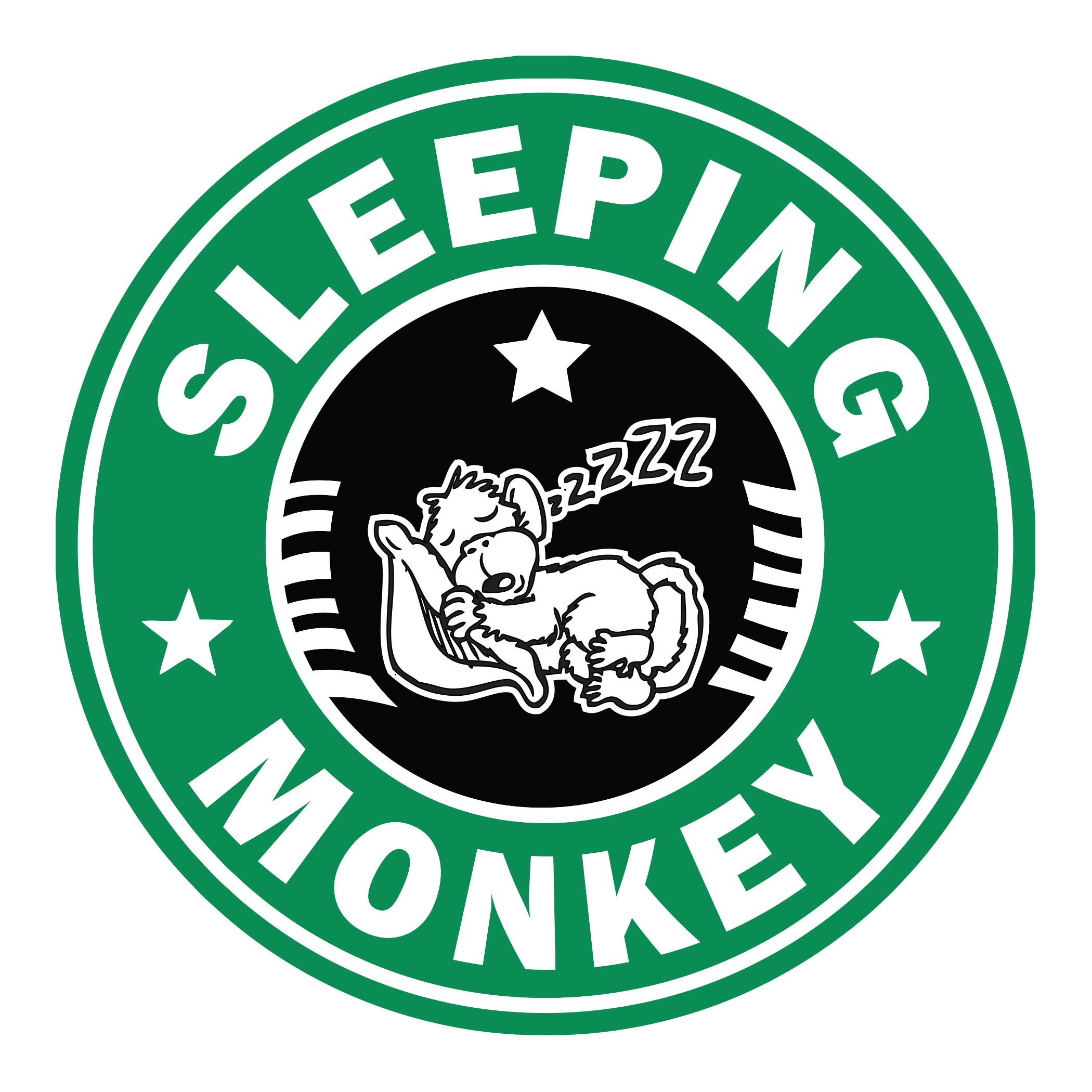 Sleeping Monkey Sticker