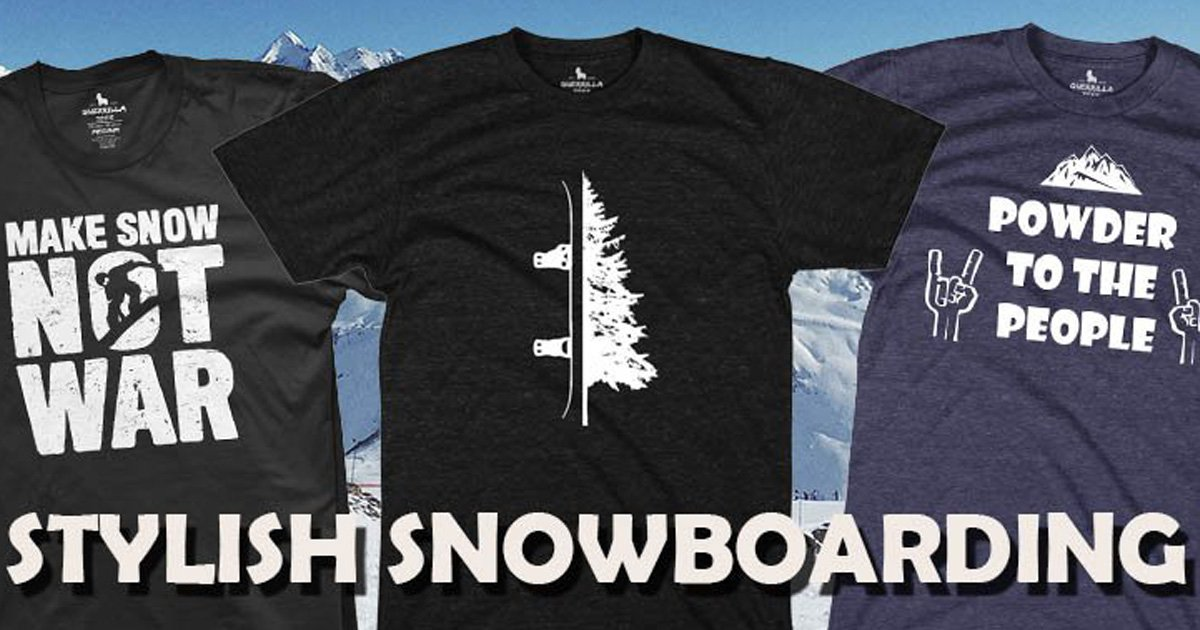 Shred with Style in These Graphic Snowboarding T-Shirts