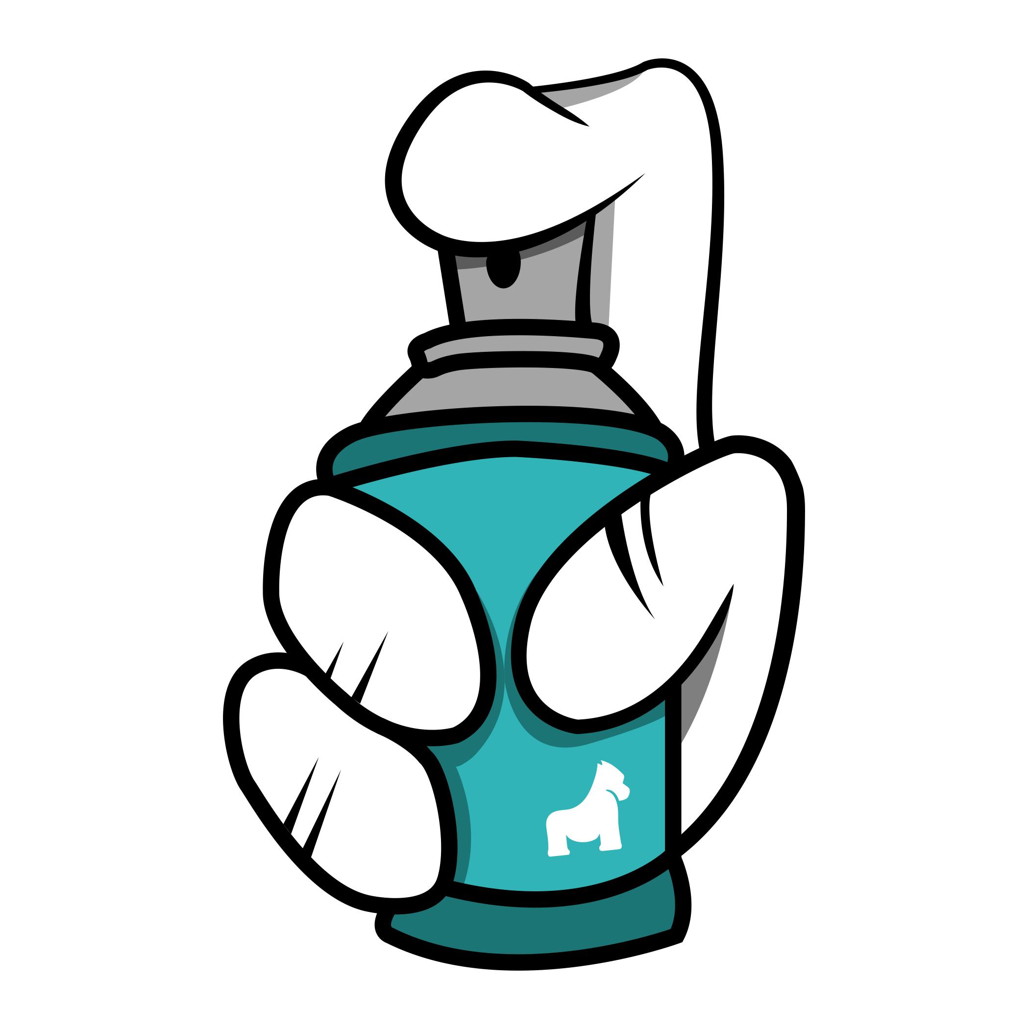 Spray Can Hand Sticker