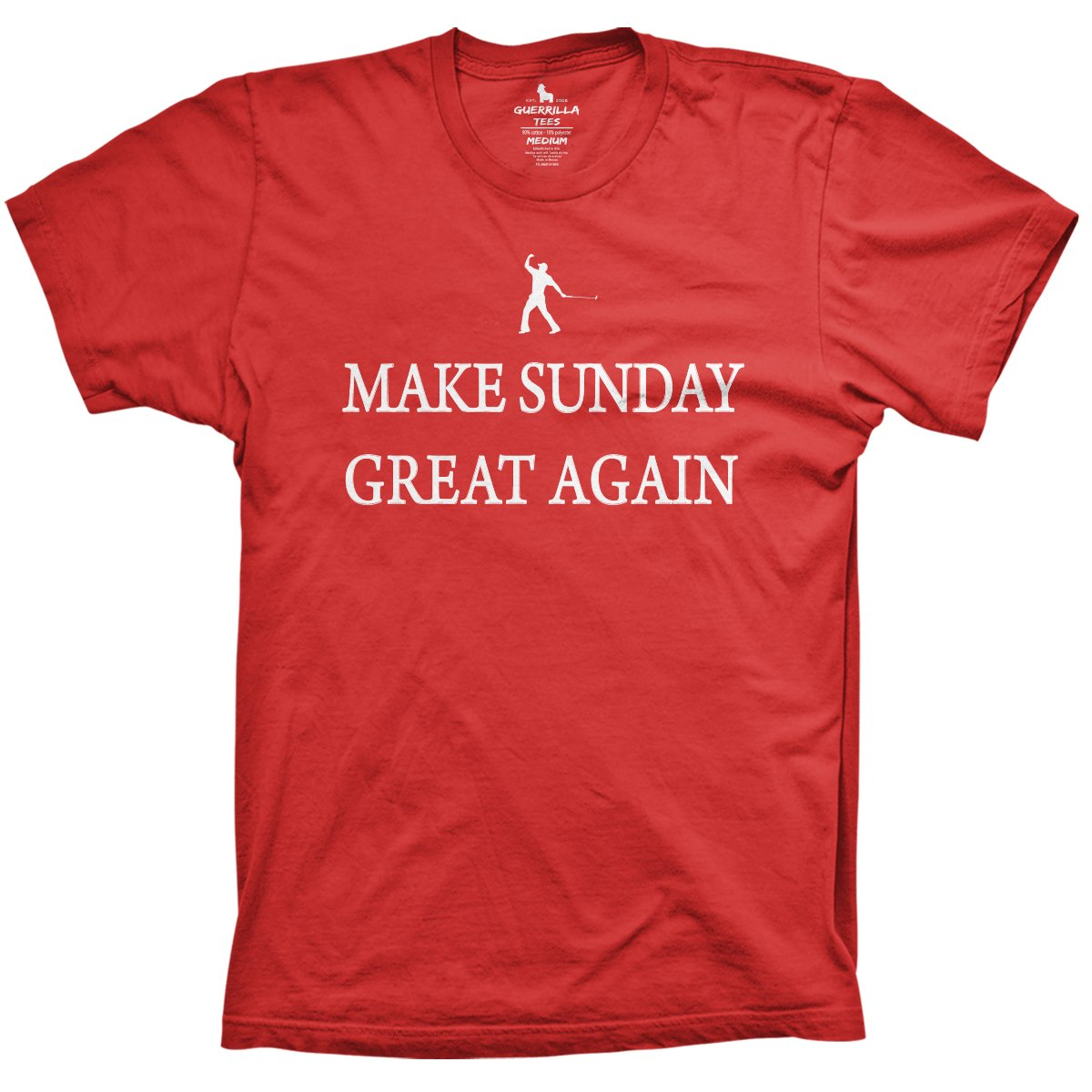 3c24253b33 Men's Novelty Golf Shirts | Make Sunday Great | Guerrilla Tees