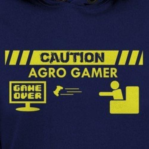 Caution Agro Gamer Hoodie