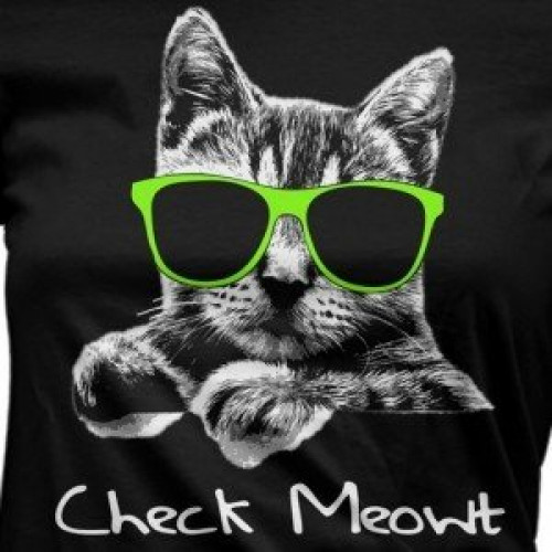 Lady's Check Meowt T-Shirt