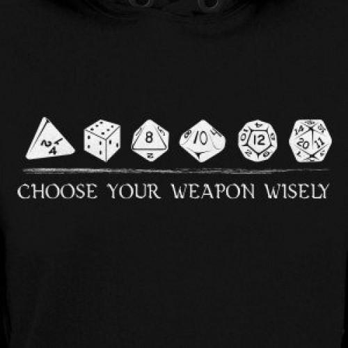 Choose Weapon DnD Hoodie