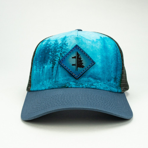 Snowtree Blue Leather and Dye Sub Hat