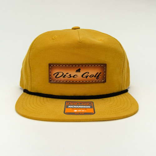 Leather Disc Golf Text Hat