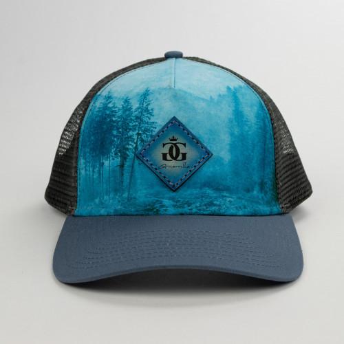 Guerrilla Blue Double G Leather Patch hat