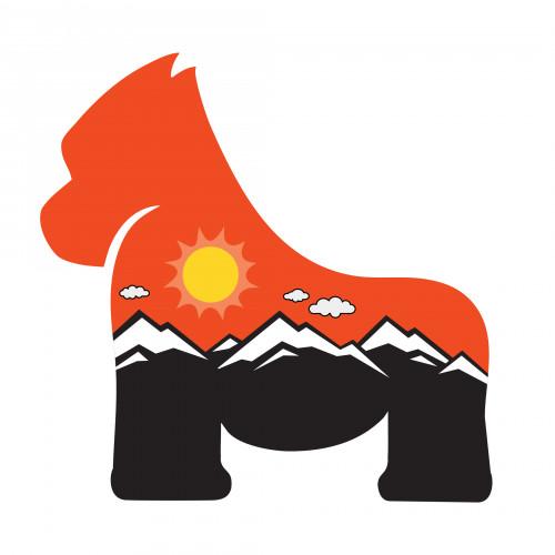 Gorilla Sunset Sticker