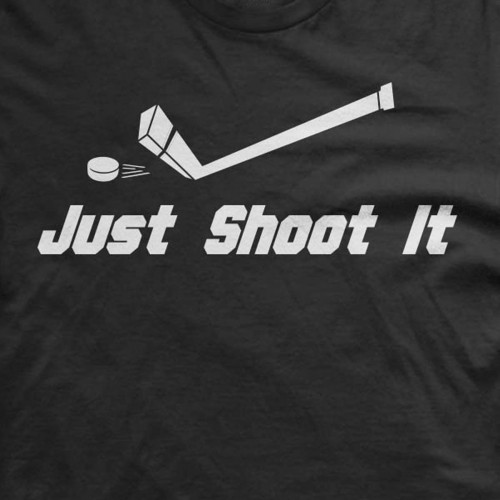 Just Shoot It Hockey T-Shirt