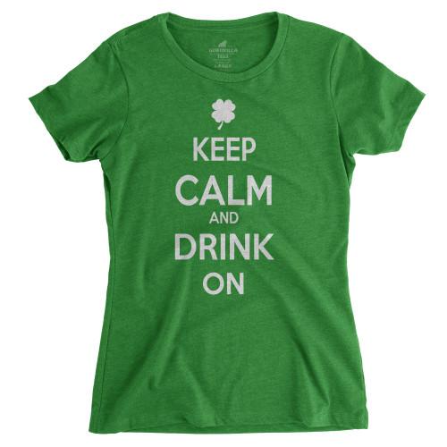 Womens Keep Calm Drink On