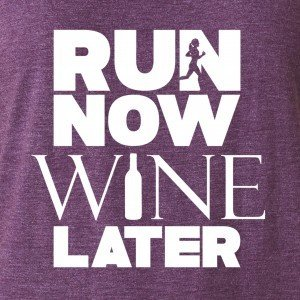 Run Now Wine Later Tank-Top