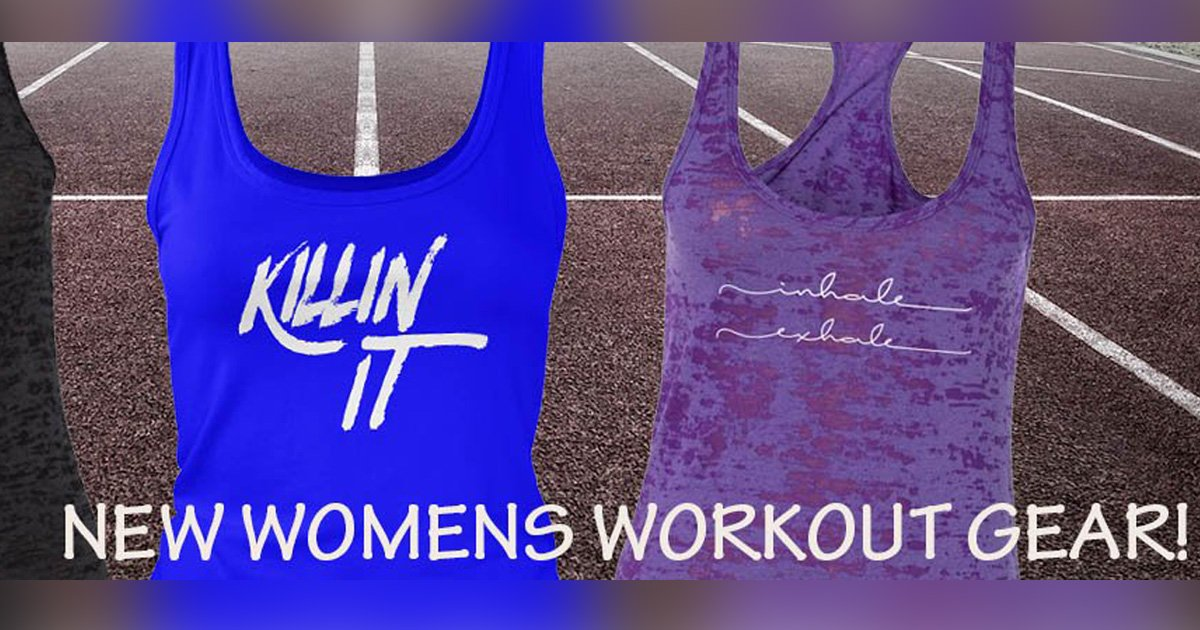7 Awesome New Women's Workout Tees & Tank Tops