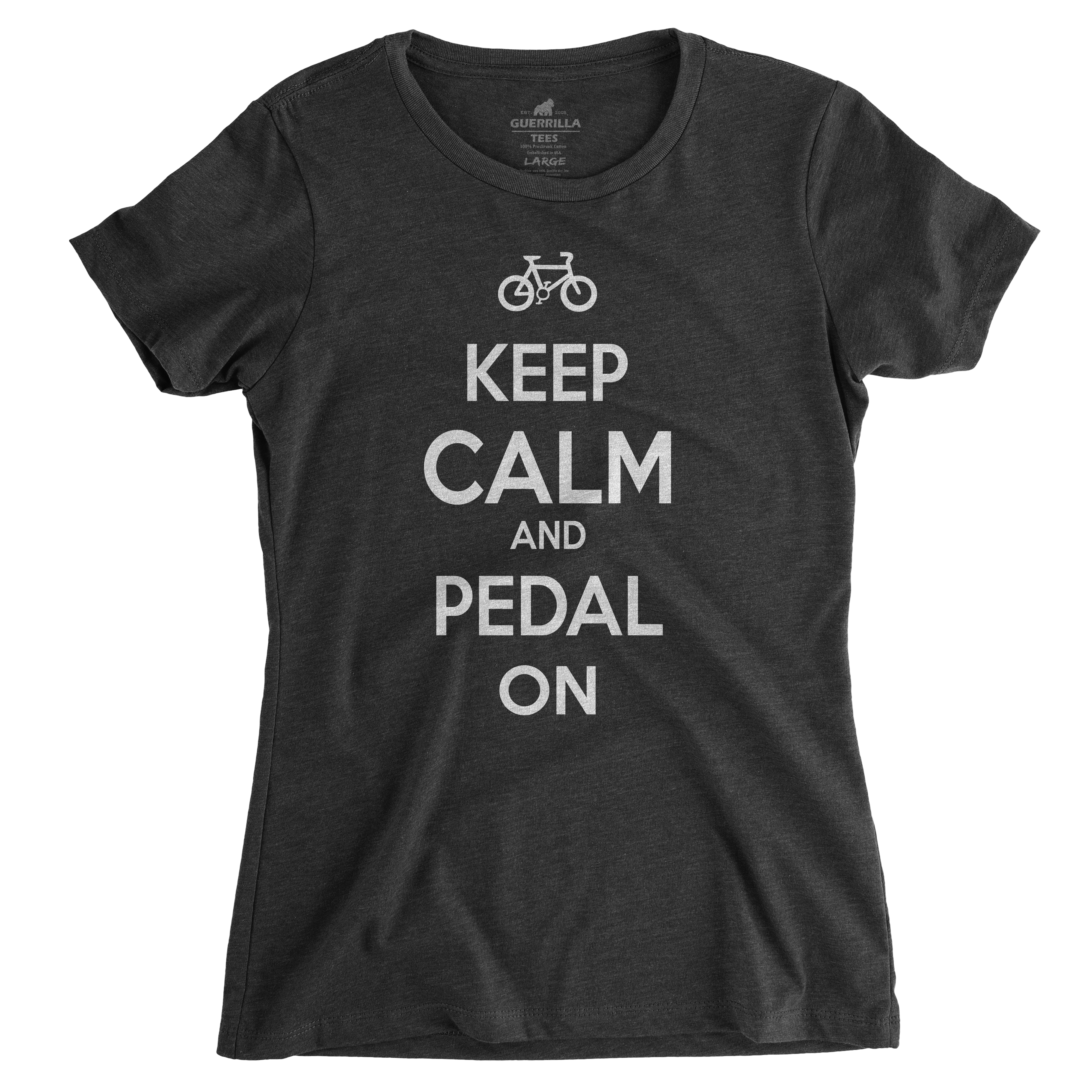 Womens Keep Calm Pedal On