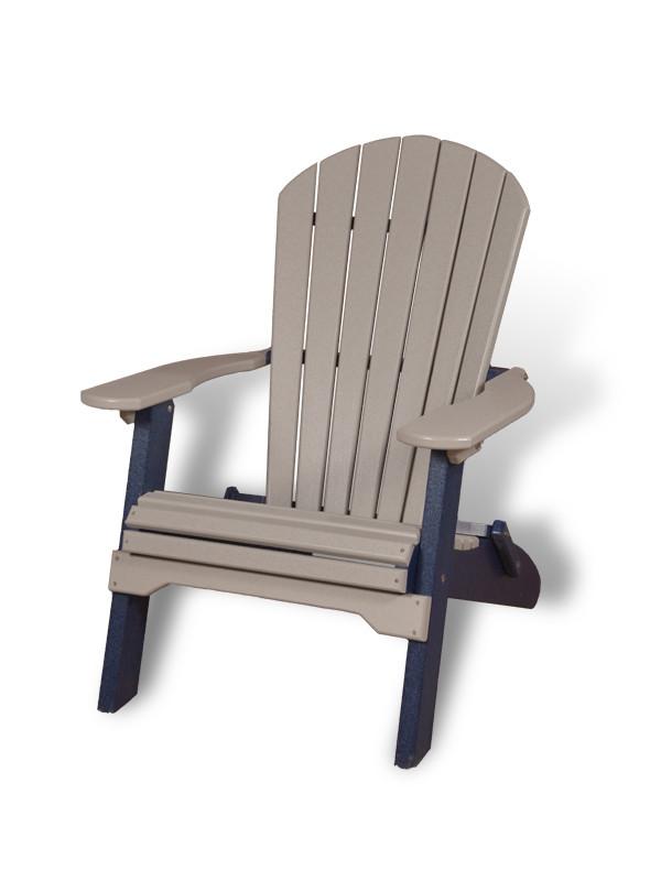 White Poly-Lumber Adirondack Chair