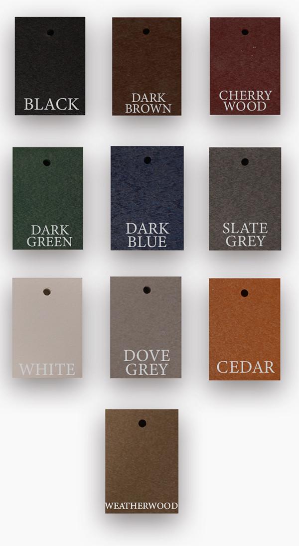 Standard Color Options for Adirondack Furniture