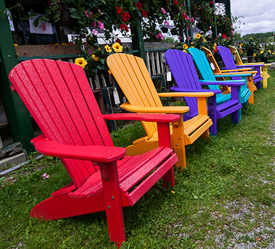 Vibrant Recycled Plastic Adirondack Chairs