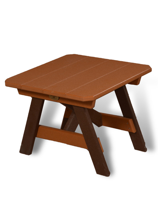 Cedar Colored Poly-Lumber Side Table