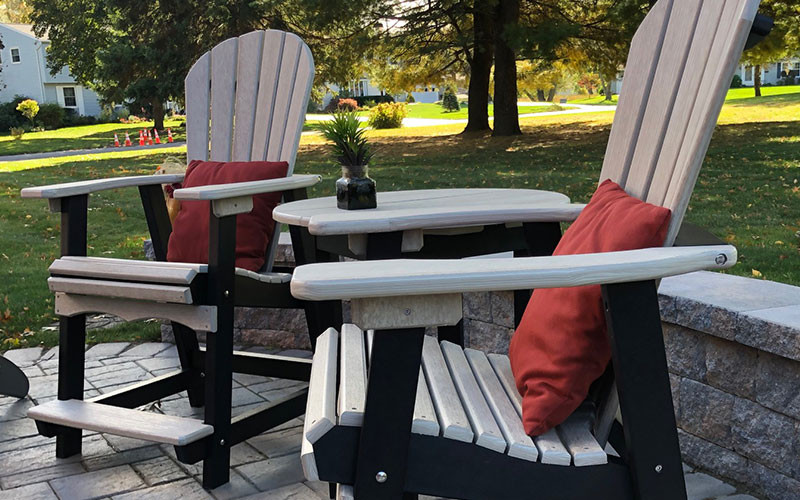 Locally Made Adirondack Side Tables and Chairs