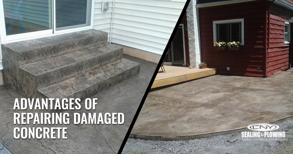 Advantages of Repairing Damaged Concrete Before and After