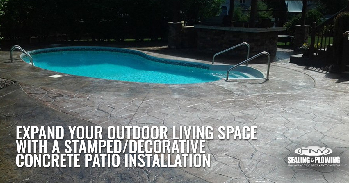 Transform Your Outdoor Living Space with Decorative Stamped Concrete