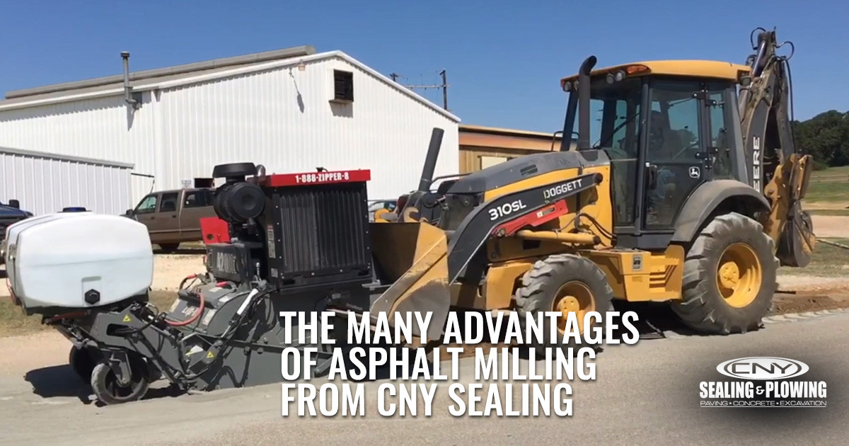 The Many Advantages of Asphalt Milling from CNY Sealing