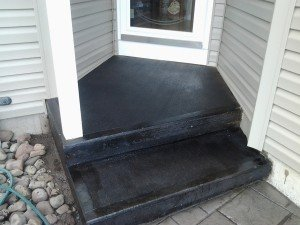 Resurfaced Concrete Steps