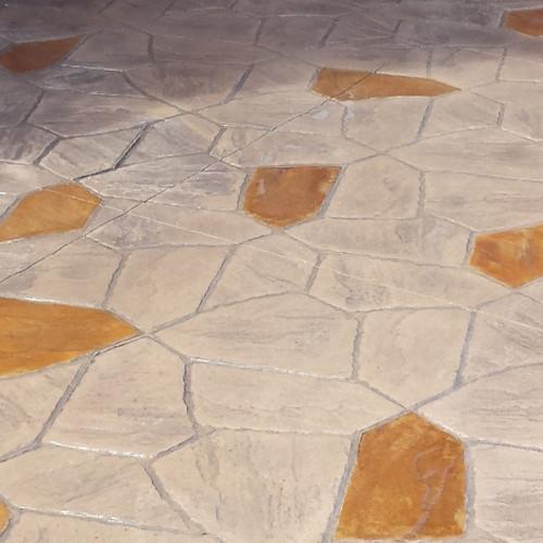 Arizone Flagstone Mes Stone wAmber Stain