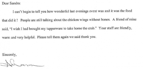 Catering Endorsement Letter