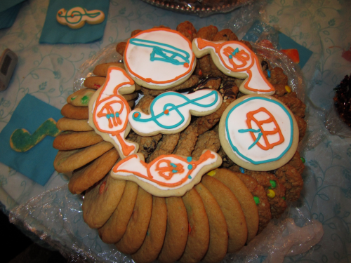 Music Themed Cookie Tray