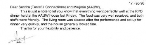 Positive Catering Food Testimonial