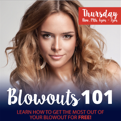 Blowouts 101 at out Santa Monica location