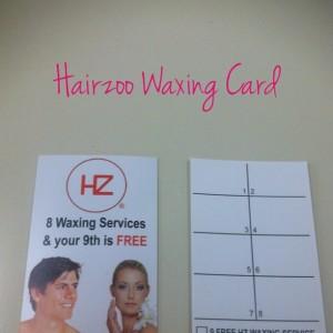 Hairzoo Waxing Card