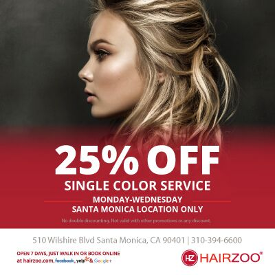 25% OFF Color Service