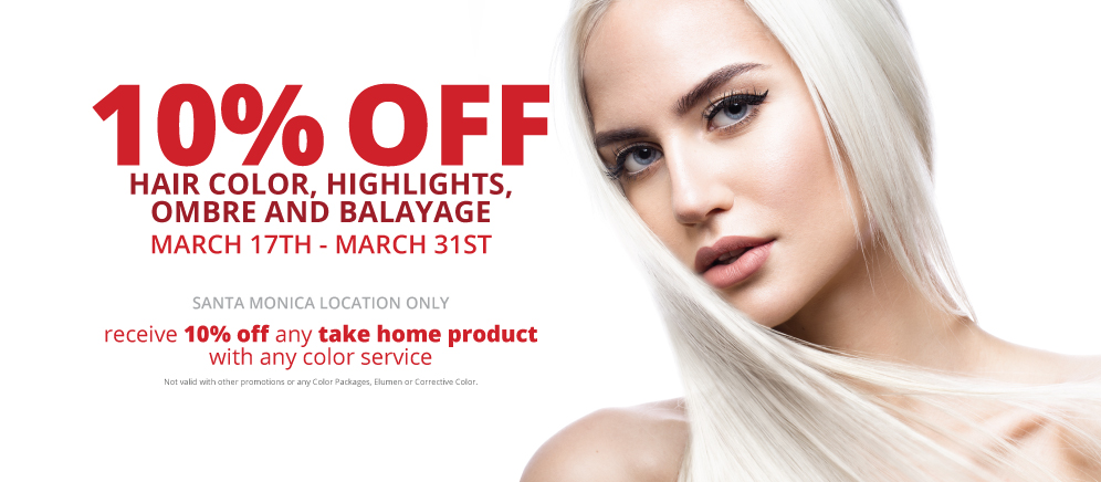 10% Off Color Service