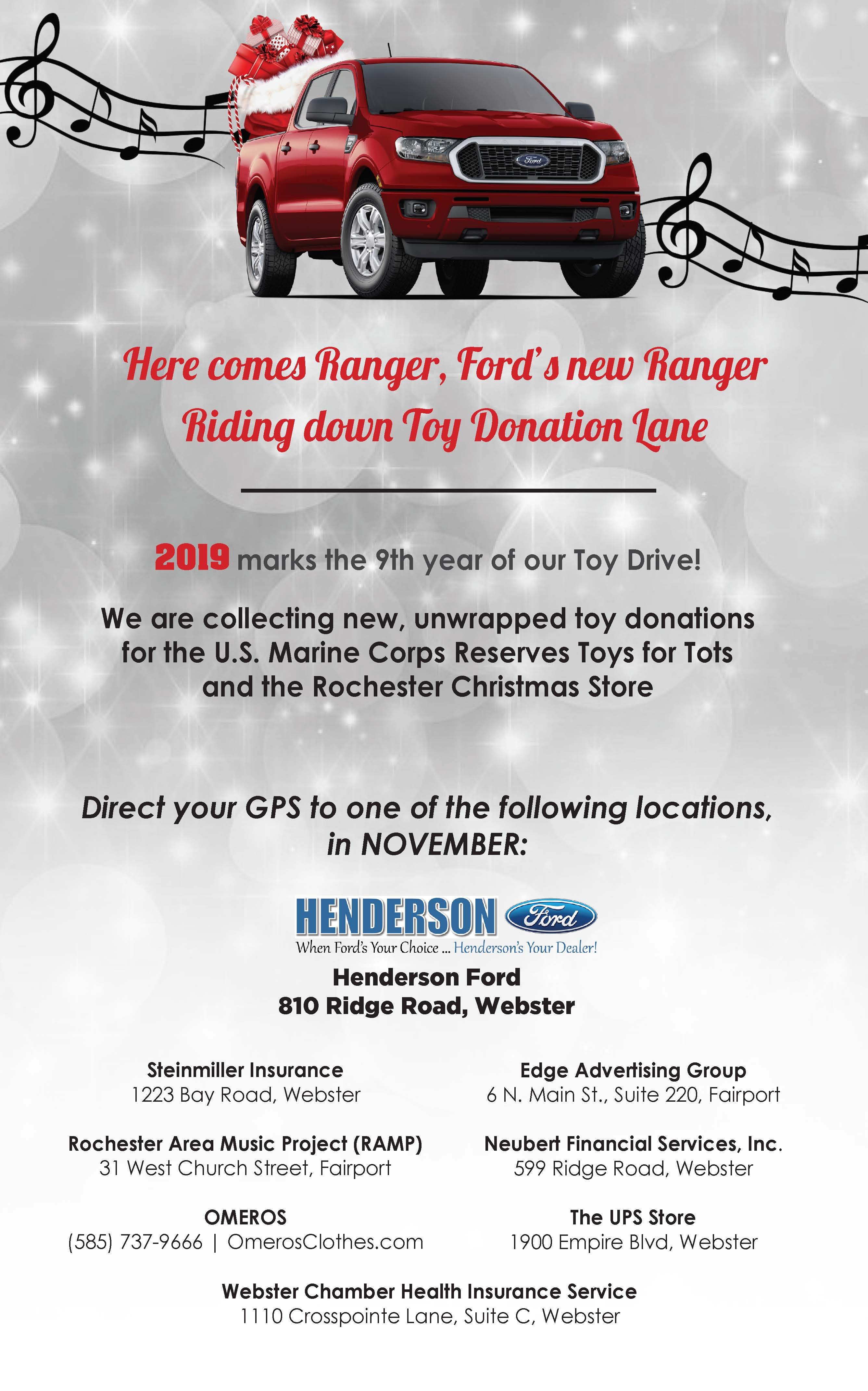 Henderson Ford Toy Drive Poster