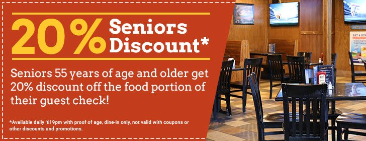 Seniors Food & Drink Discounts at The Distillery