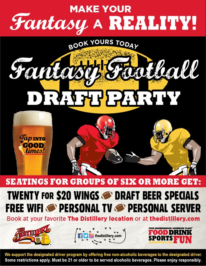 Fantasy Football Draft Party at The Distillery