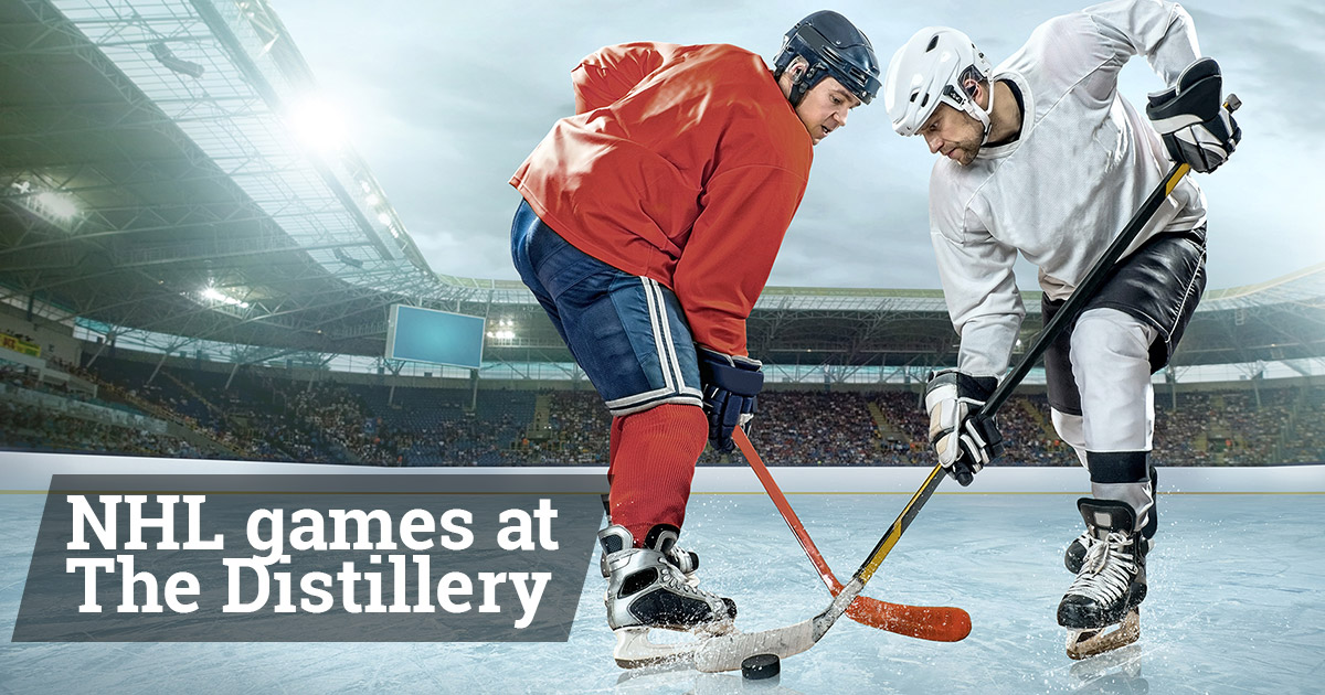 NHL Playoff Games at the Distillery
