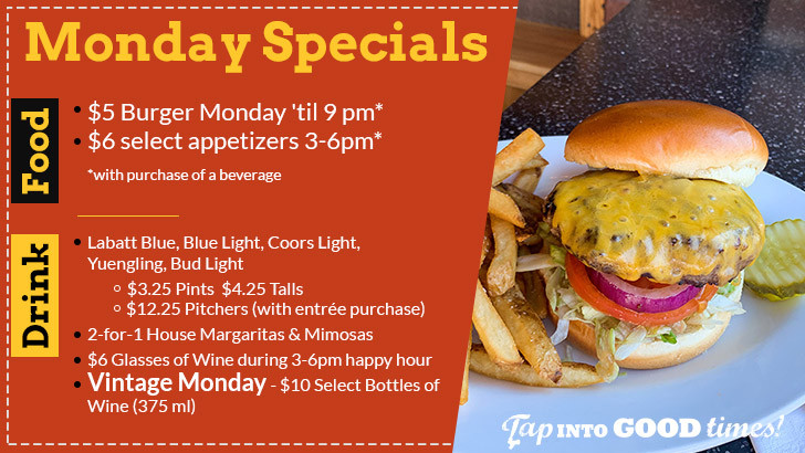Monday Food & Drink Specials at The Distillery