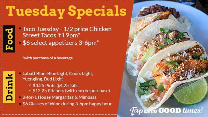 Tuesday Food & Drink Specials at The Distillery