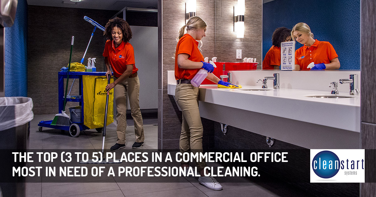 Top Areas to Have Professionally Cleaned in Commercial Offices