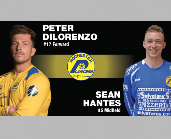 Lancers sign Peter DiLorenzo and Sean Hantes
