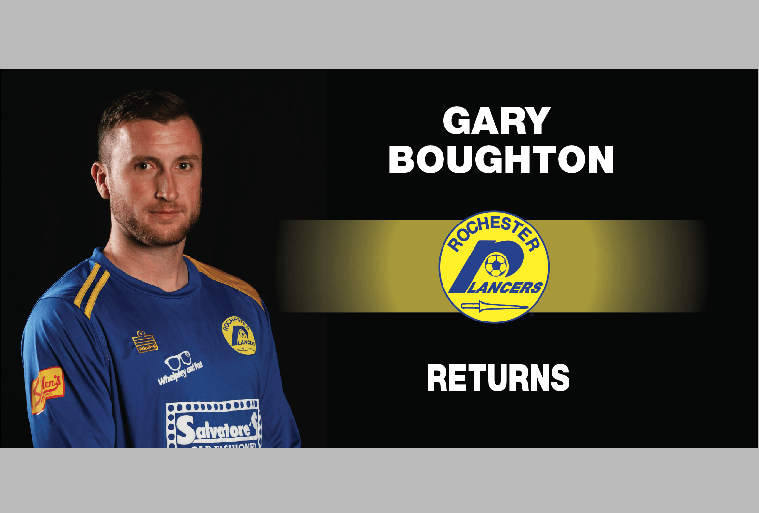 GARY BOUGHTON IS BACK FOR THE 2019/20 SEASON!