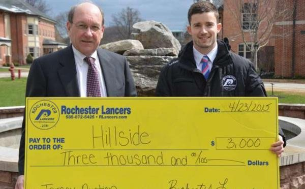 LANCERS PRESENT HILLSIDE DONATION!