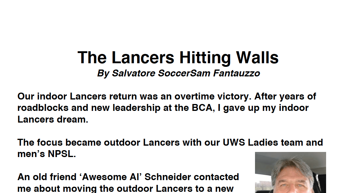The Lancers Hitting Walls