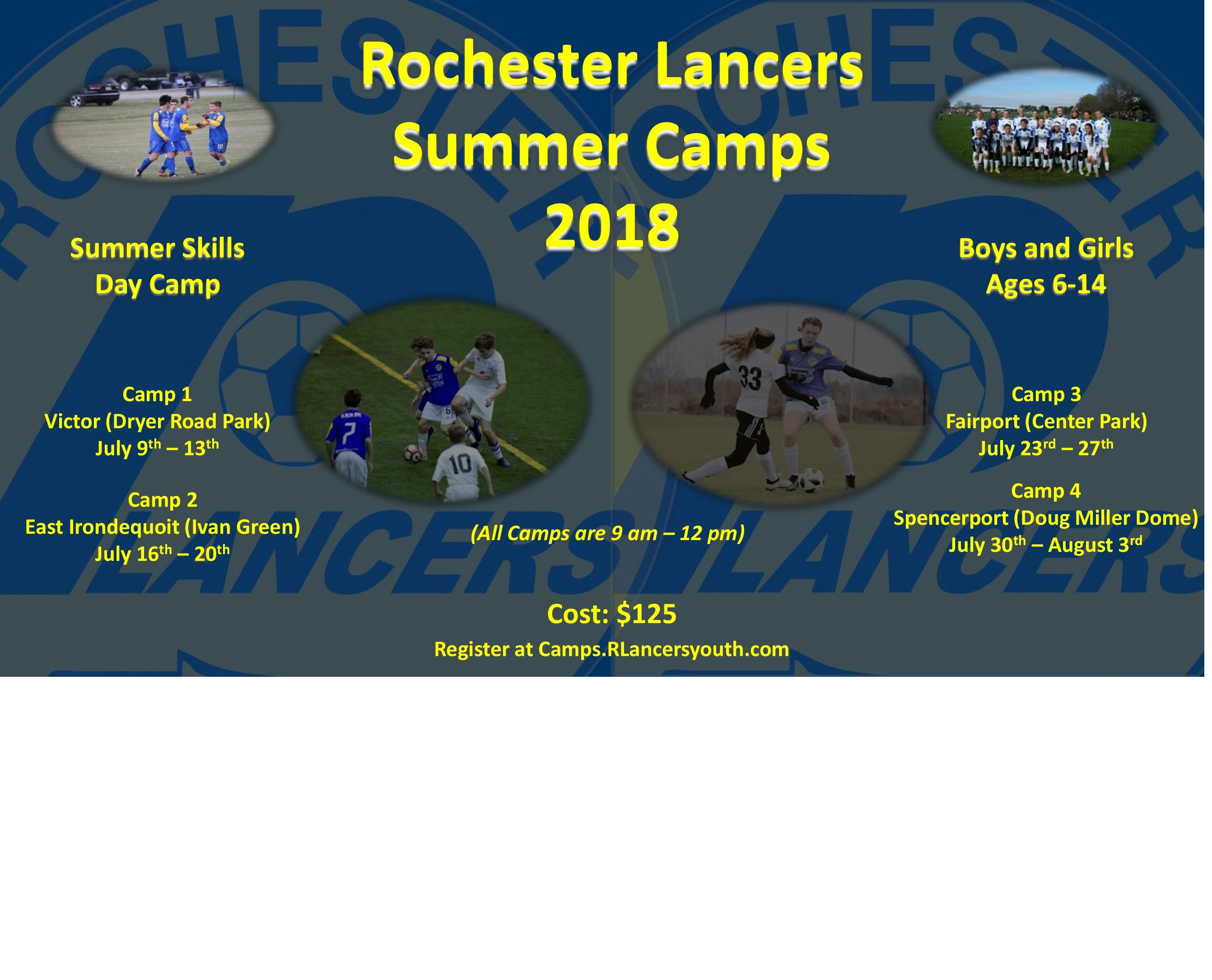 Rochester Lancers Summer Camps 2018