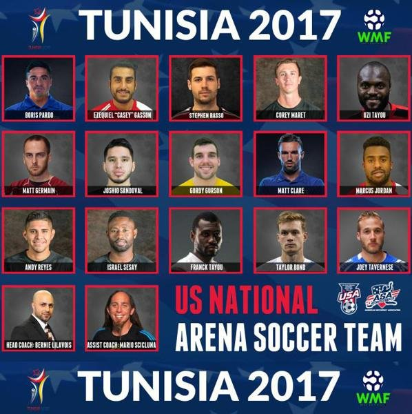 Former Lancers Basso and Tavernese Selected to Represent USA at WMF World Cup