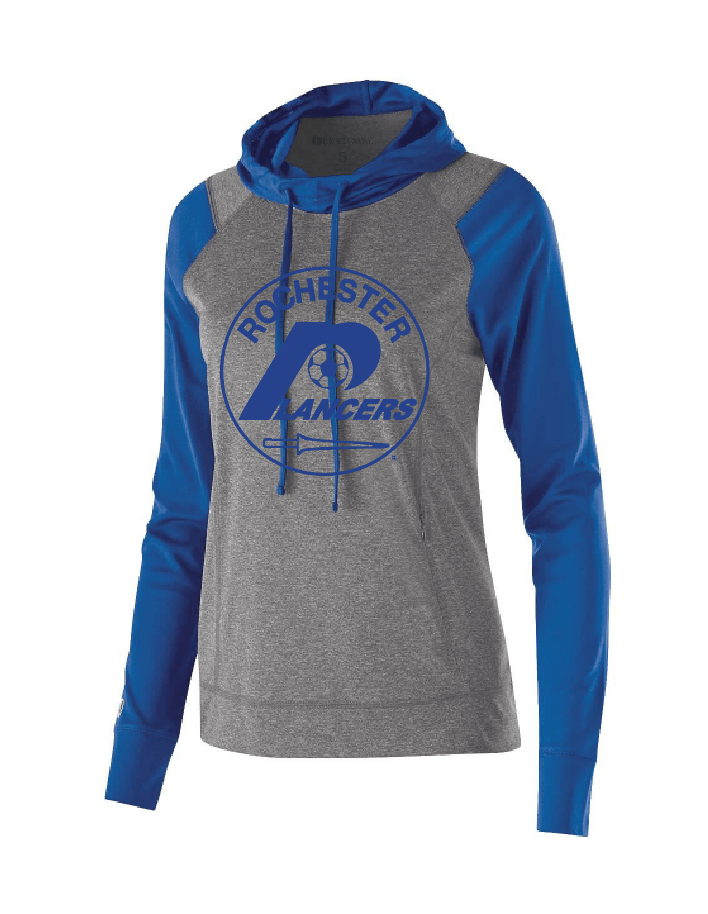 Women's Echo Hoodie Royal w/ Full Front Logo